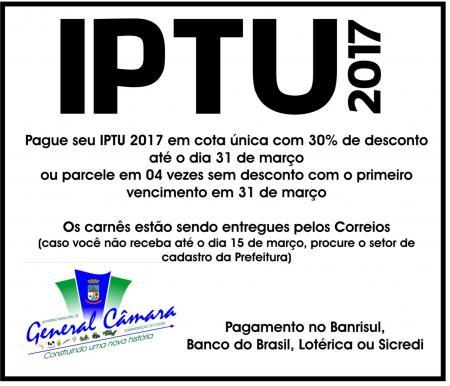 IPTU 2017 com desconto