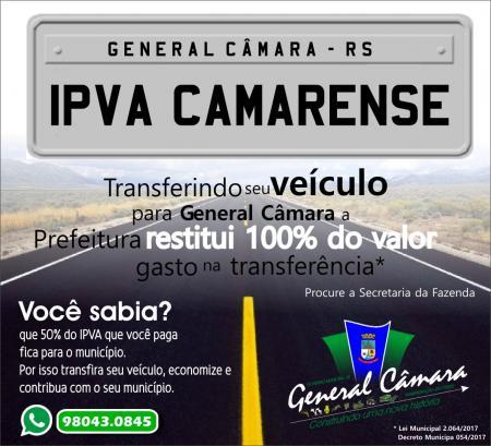 Governo lança IPVA Camarense
