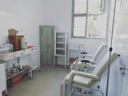 Nova sala de medicação.
