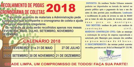 Recolhimento de podas 2018