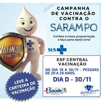 Campanha de vacinação vai até o dia 30 de novembro