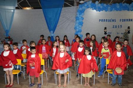 Formatura da Pré Escola e do Nono Ano das escolas da Rede Municipal de Ensino