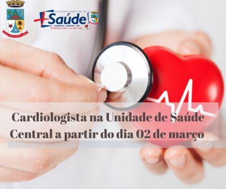 Cardiologista na Unidade de Saúde Central