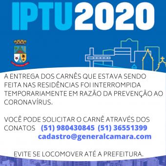 Entrega de IPTU interrompida