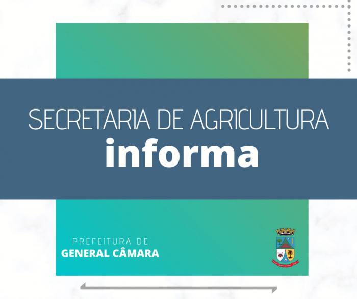 Secretaria de Agricultura informa