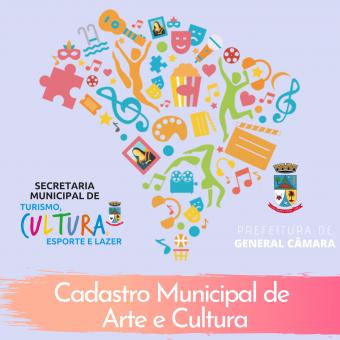 Ativação do Cadastro Municipal de Cultura e Arte