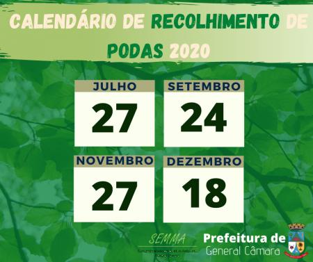 Calendário de Podas 2020